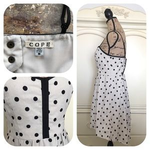 Urban Outfitters Dresses - Urban Outfitters COPE Polkadot Linen Blend Dress